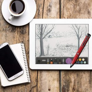 Broonel Red Fine Point Digital Active Stylus Pen Compatible with The ZONMAI 10 Tablet